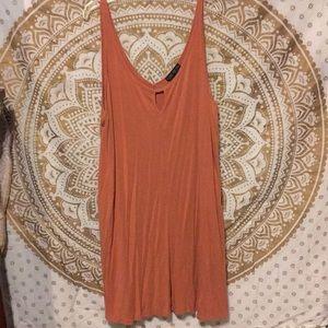 light peach dress